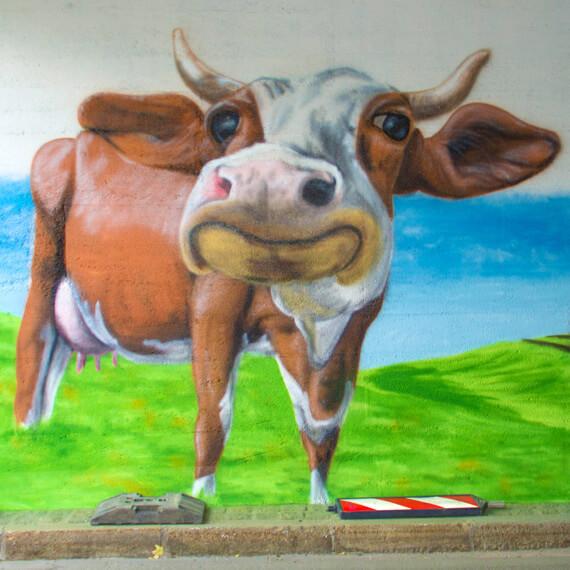 bayerische Milchkuh Graffiti