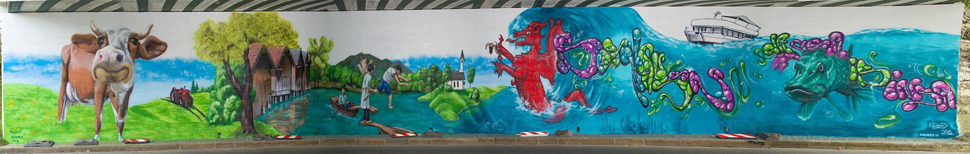 Unterführung Seehausen Graffiti